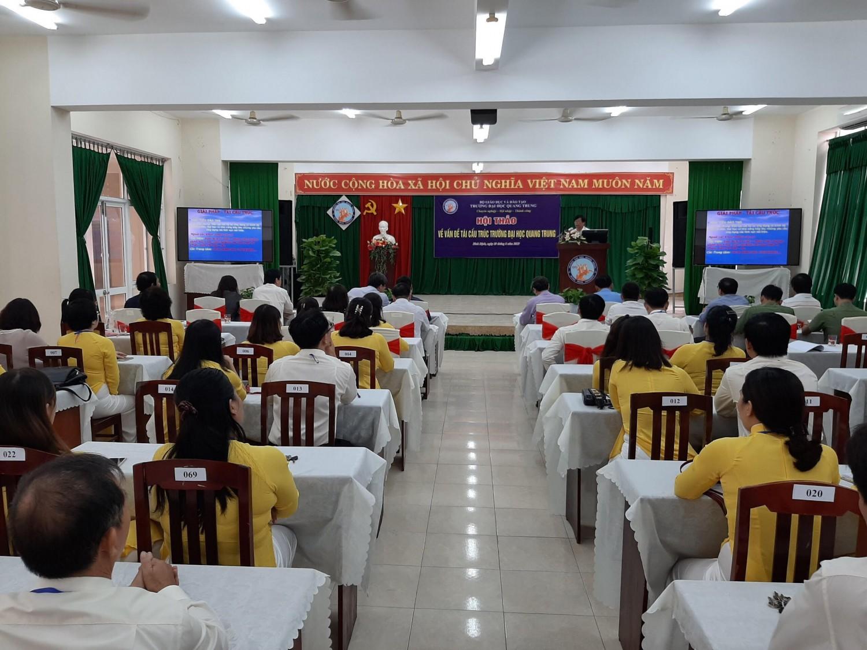 Trường Đại học Quang Trung tổ chức hội thảo về việc tái cấu trúc trong giai đoạn mới